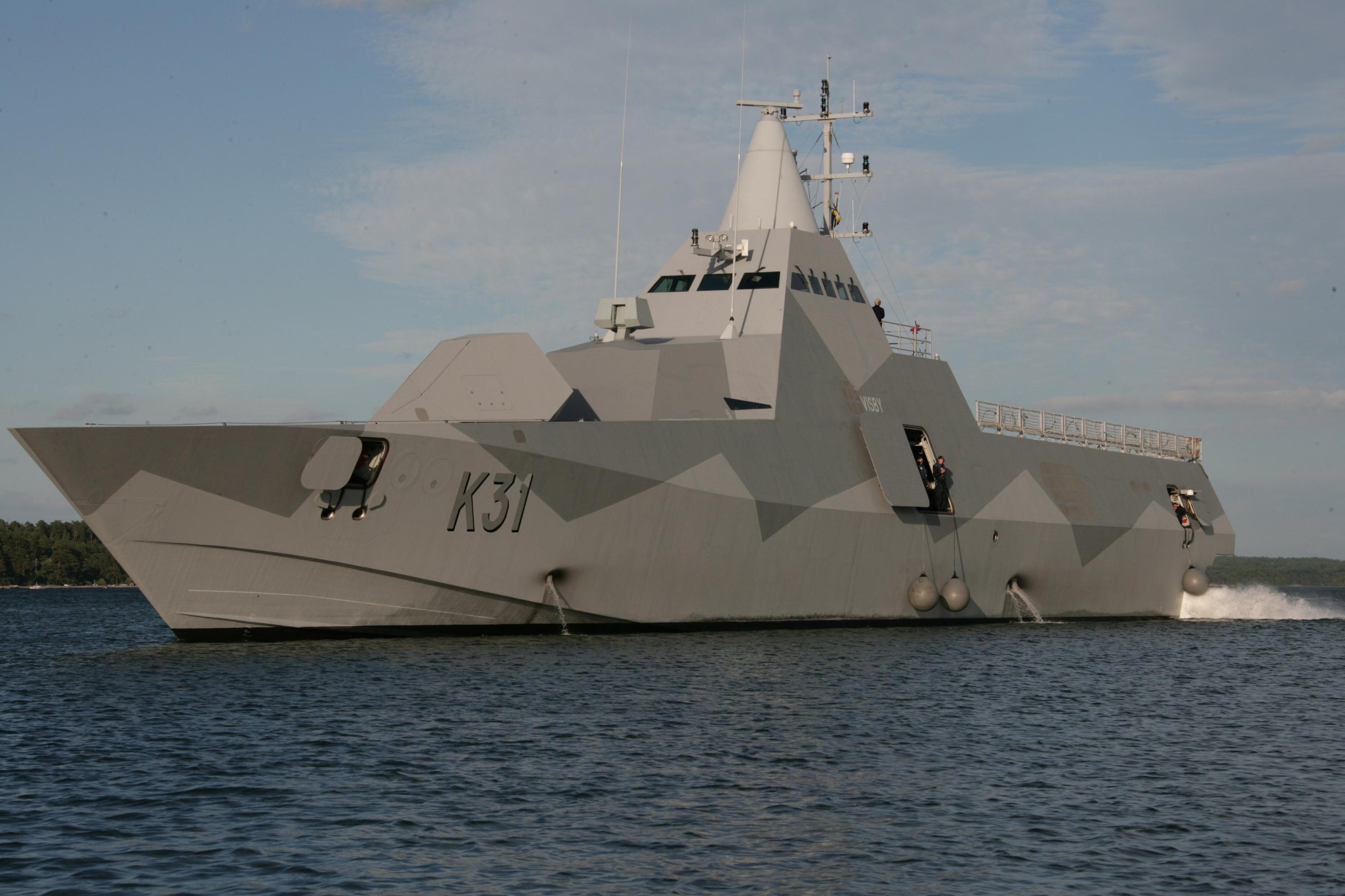 Nave con Tecnologia Stealth Visby Class