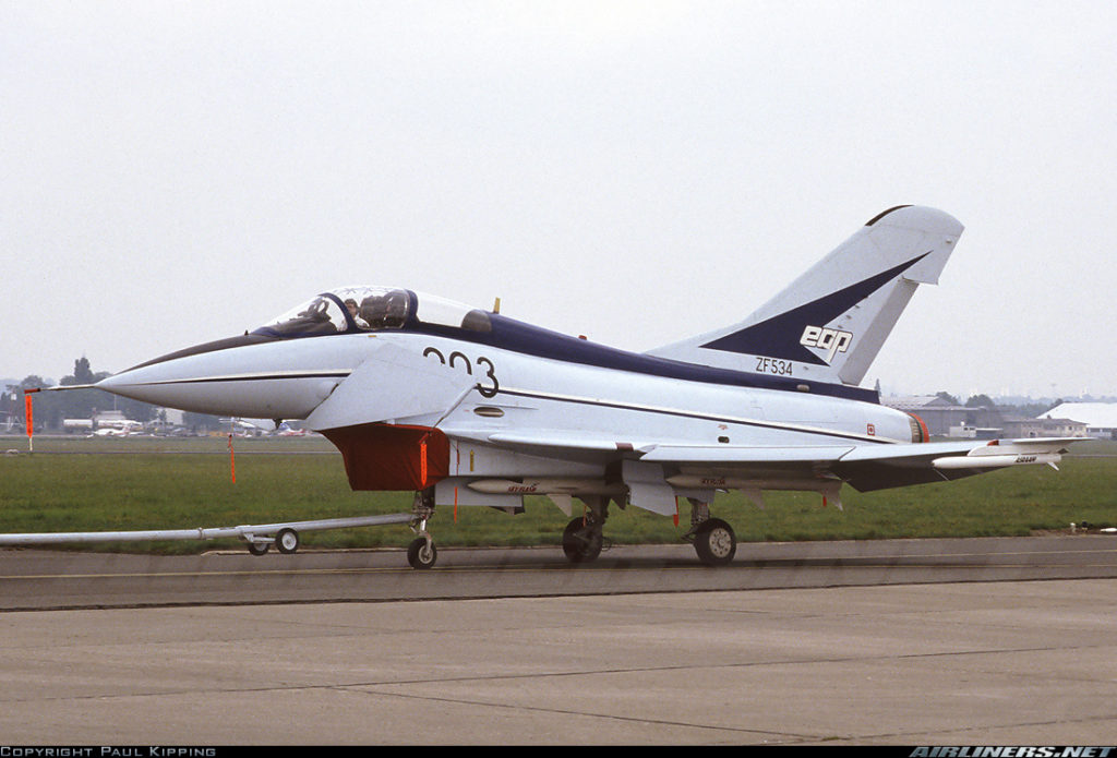 British Aerospace EAP. La forma è molto simile all'Eurofigther.