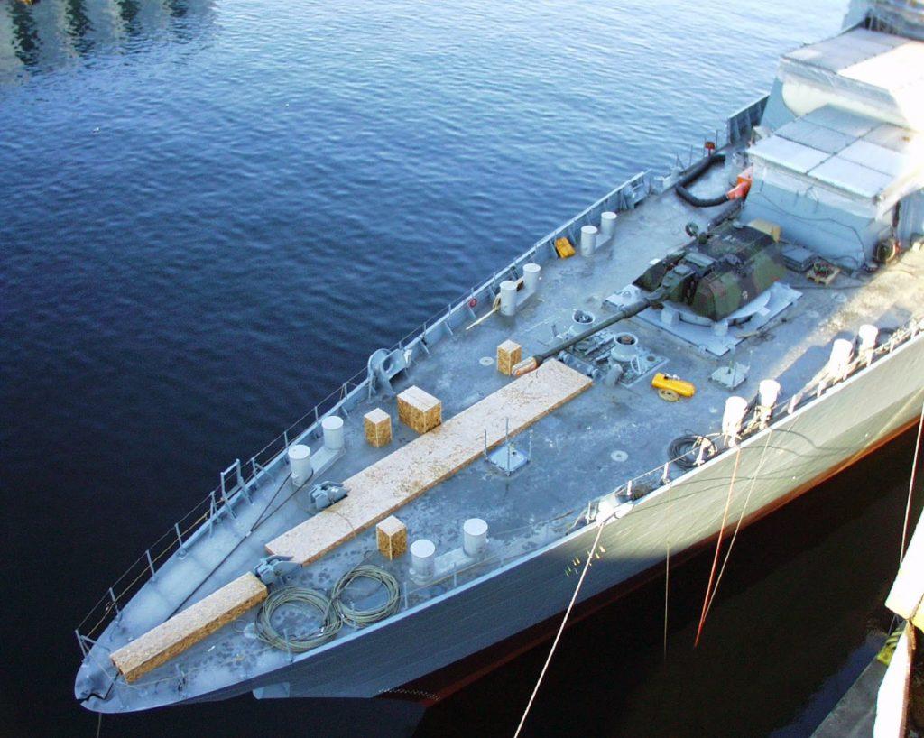 hamburg fregata frigate monarc system artillery gun module