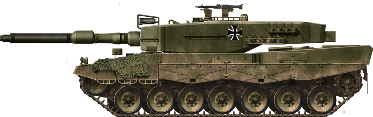 Infografia del Leopard 2 A0.