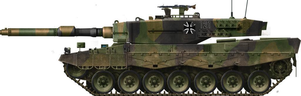 Infografia Leopard 2 A1 (anni '80).