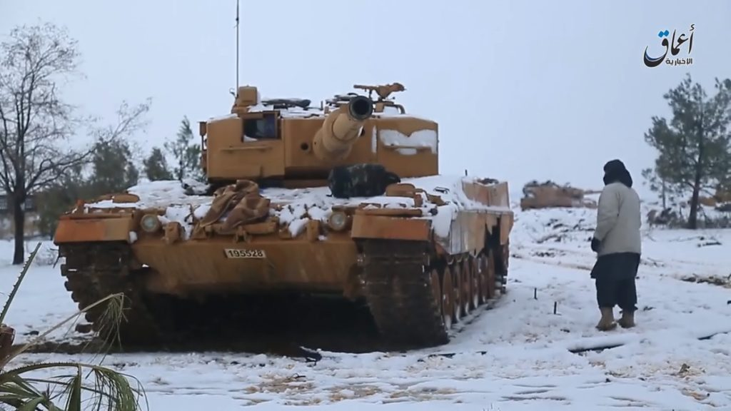 ISIS daesh turkish tanks leopard2a4 catturati