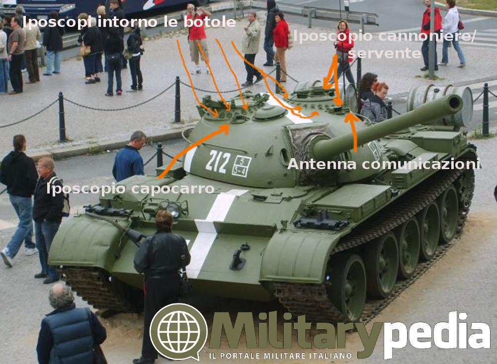 Dettaglio T-54A a Praga.