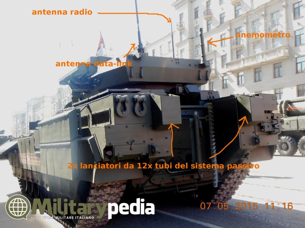 Infografia su sensoristica del T-15 Armata.