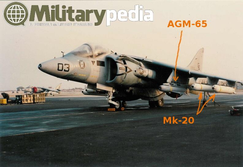 agm-65 maverick mk-20 payload av8b harrier gulf war guerra del golfo 1991