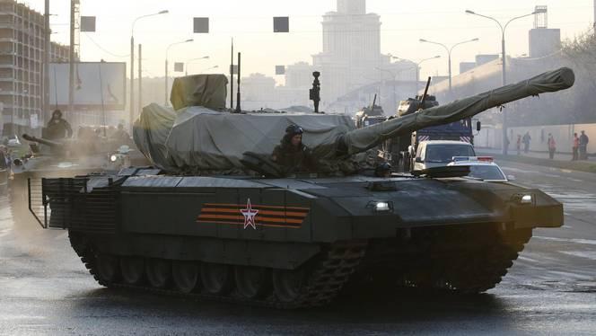 T-14 Armata tank red square