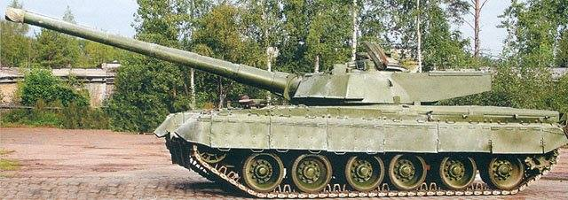 laterale del carro armato object 292 variante del t-80