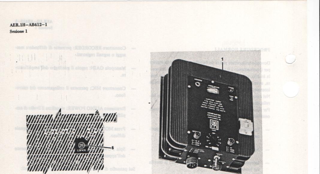 ab 412 altoparlanti installazione amplificatore audio augusta bell
