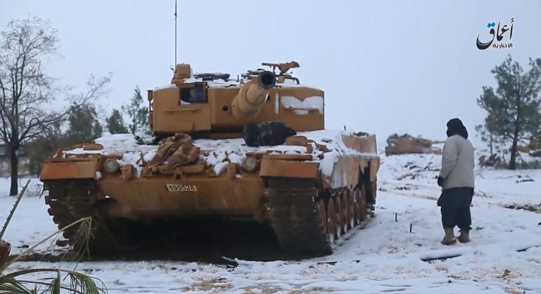 ISIS daesh turkish tanks leopard2a4 catturati