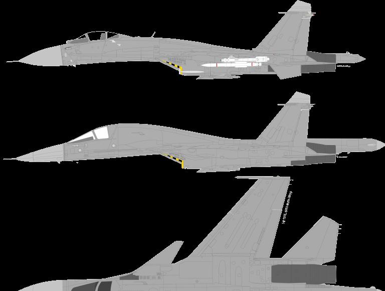 comparison paragone su-34 su-30 su-27