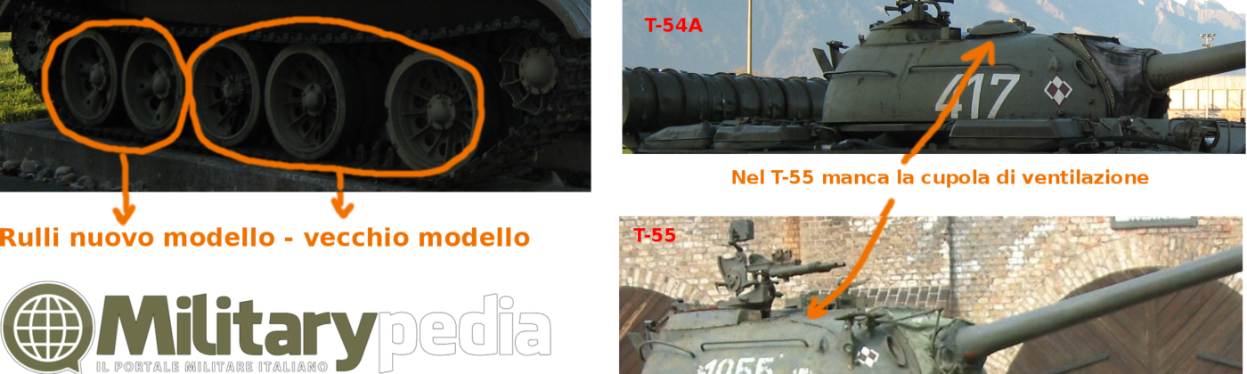 difference between t-54 and t-55