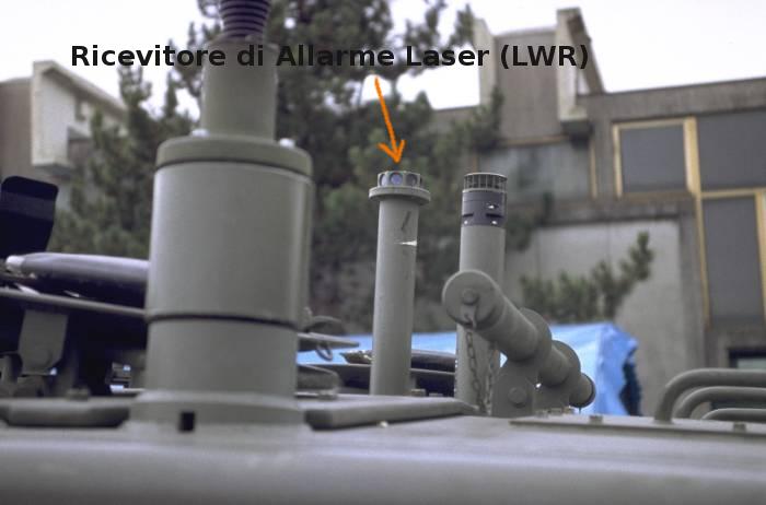 lwr ricevitore allarme laser warning receiver c1 ariete tank italian mbt carro armato