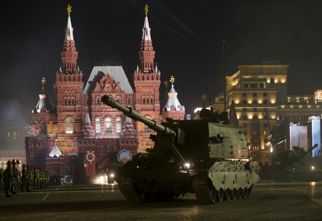 victory parade 2s35 spg 4 may 2015 giornata della vittoria russia howitzer self-propelled