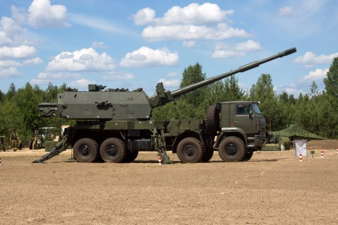 2s35 Koalitsiya-SV-KSh obice semovente self propelled gun howtizer 8x8 wheeled