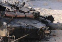 Torretta del carro distrutto