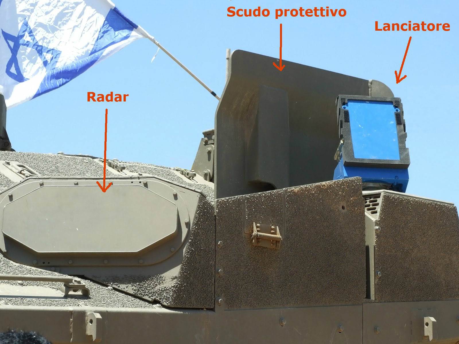 trophy merkava 4 aps active protection system