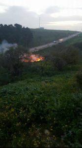 f-16 abbattuto distrutto in Siria IAF
