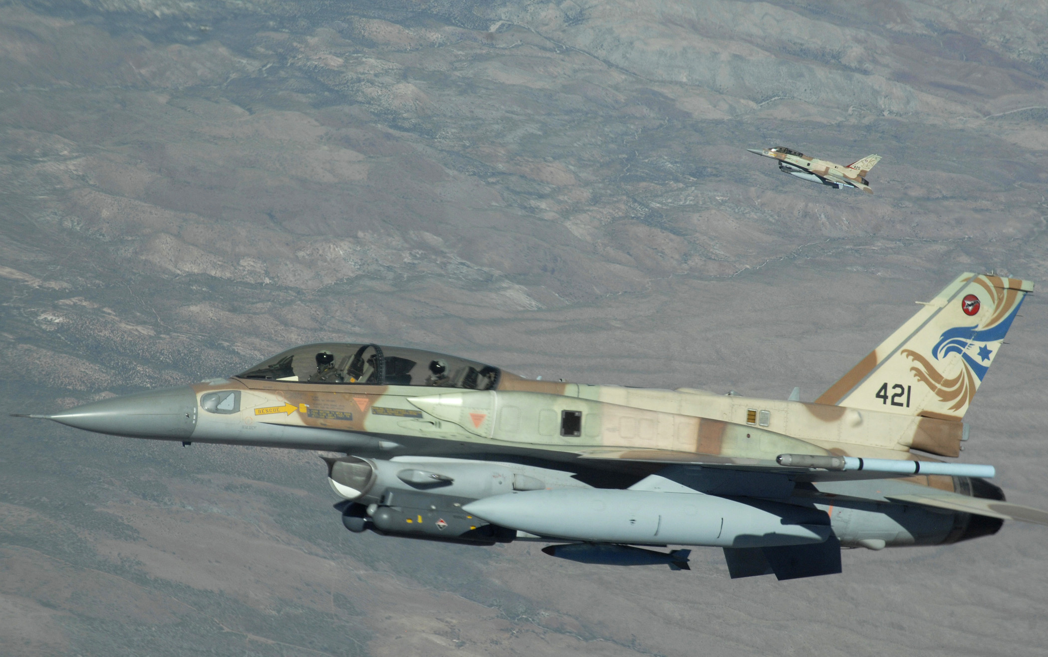f-16 israeliani al red flag in Nevaga nel 2017